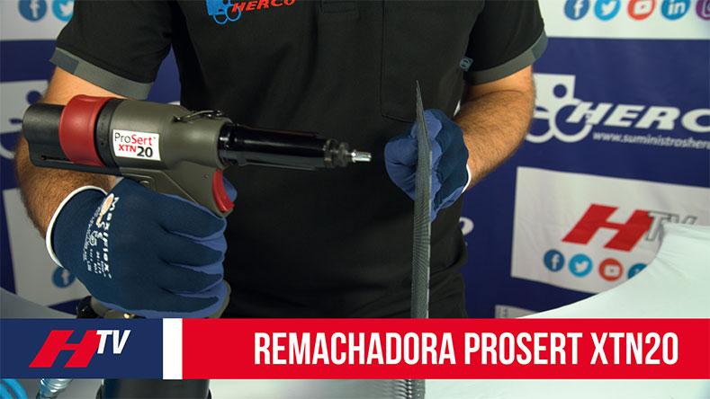 Remachadora Prosert XTN20 para remachar tuercas sin esfuerzo
