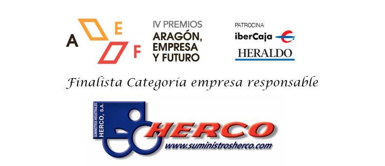 Suministros Herco, finalista de la IV Edición de los Premios Aragón Empresa y Futuro
