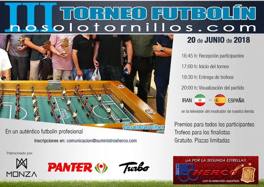 III Torneo de Futbolín Nosolotornillos.com
