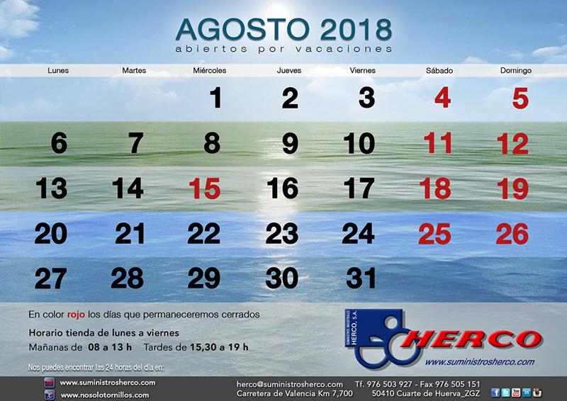 Suministros Herco abre el mes de agosto