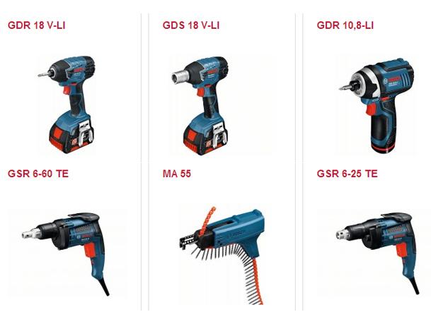 Gama de atornilladoras y atornilladoras de impacto en www.nosolotornillos.com