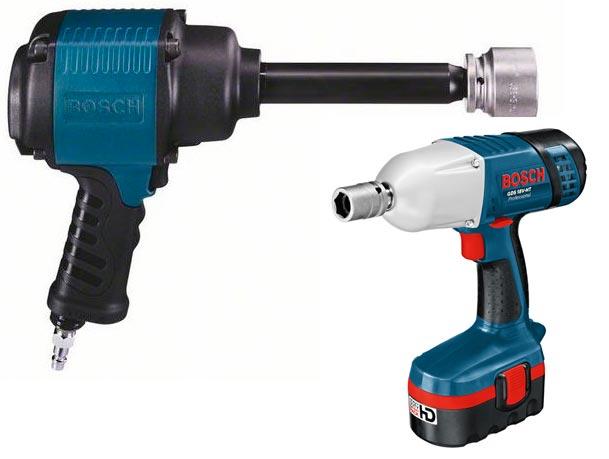 Pistolas de impacto neumáticas para trabajos de mecánica y carpintería.